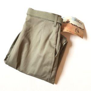 Vintage CHIC high waisted pants 12 NWT tan
